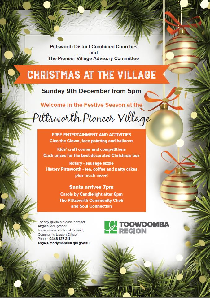 Christmas in the Village Poster General 2018
