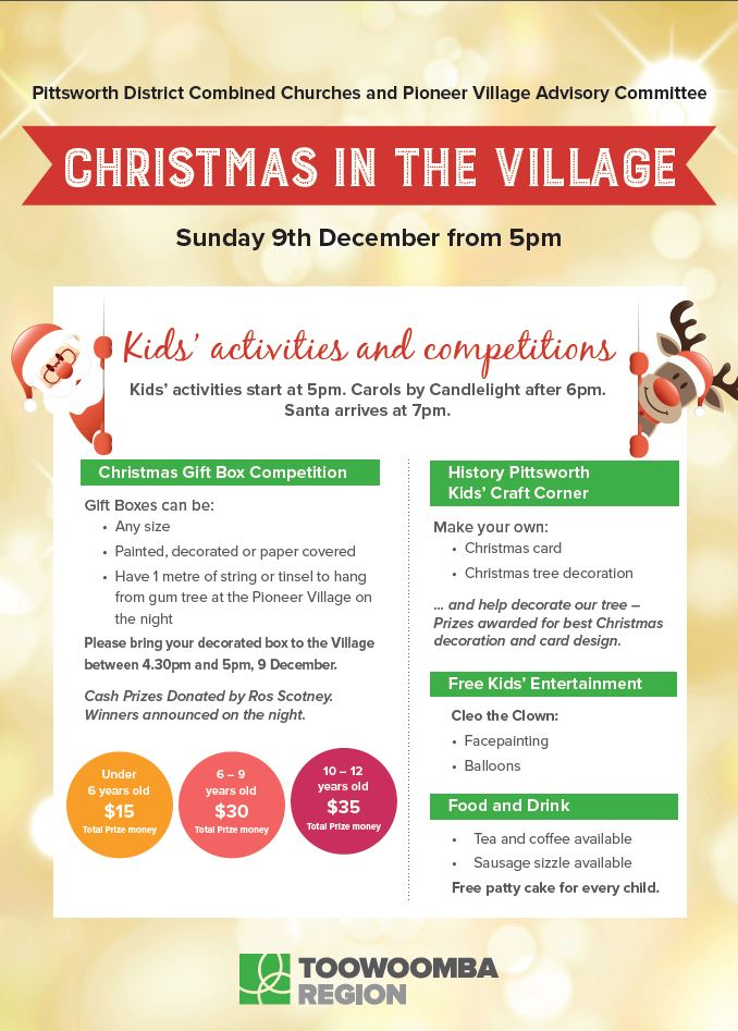 Christmas in the Village Poster Kids Activities 2018
