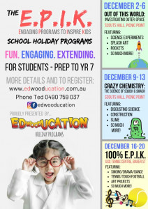 The E.P.I.K. (Engaging Programs to Inspire Kids) Holiday Programs
